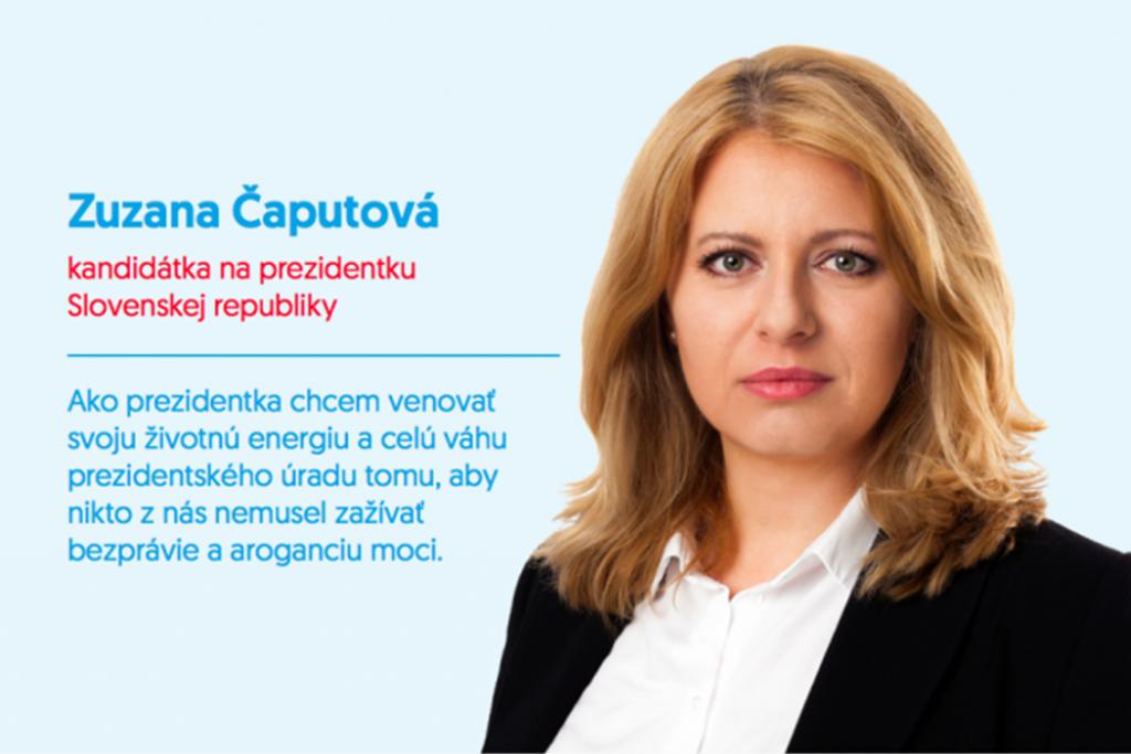 Podporujeme Zuzanu Čaputovú